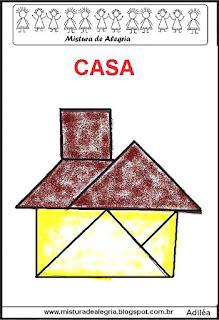 tangram desenho de casa