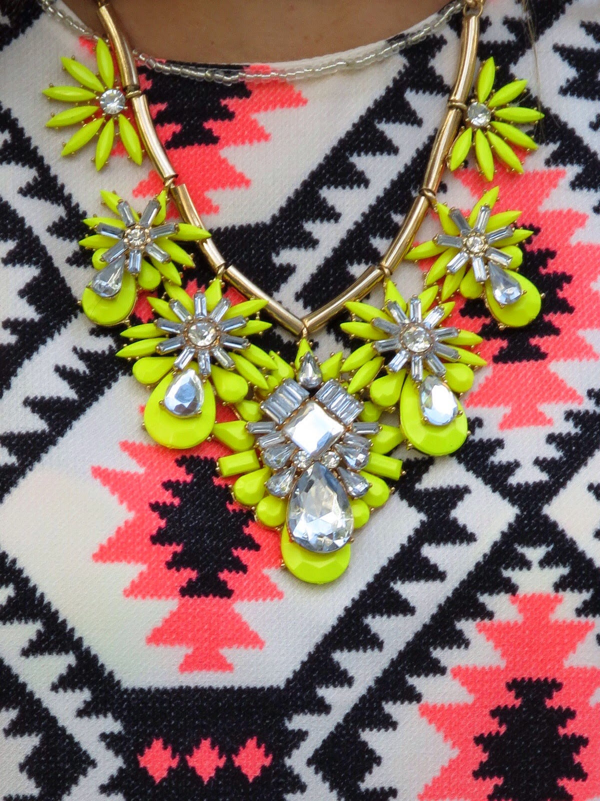 yellow francesca's statement necklace