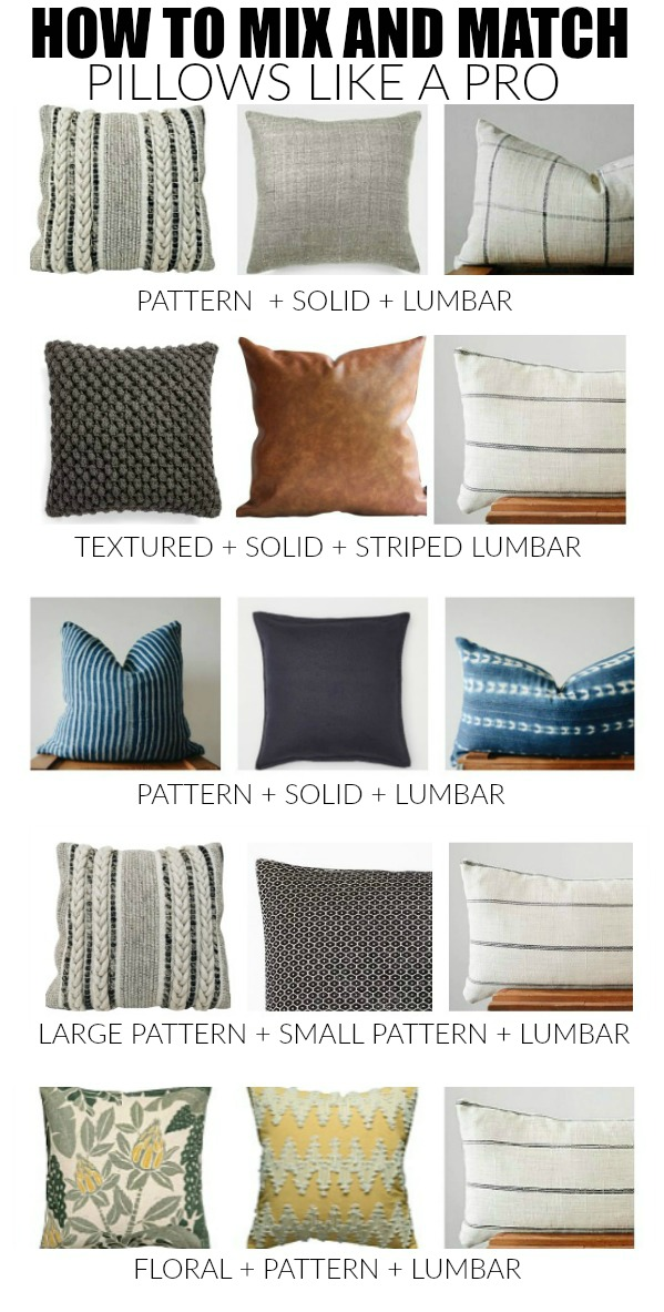 How to style and mix and match pillows like a pro