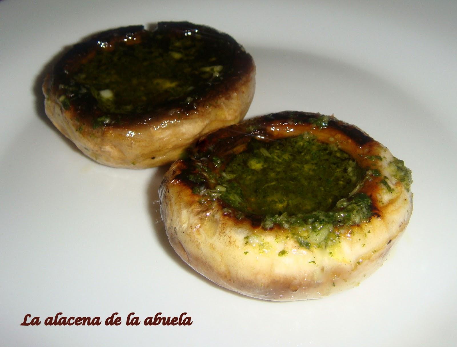 La Alacena De La Abuela Carmen Champiñones A La Plancha Con Salsa Verde