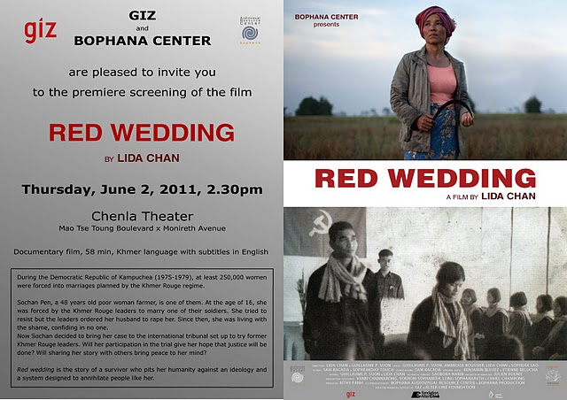 Khmer Wedding Invitations: All About Cambodia: RED WEDDING A Film By LIDA CHAN