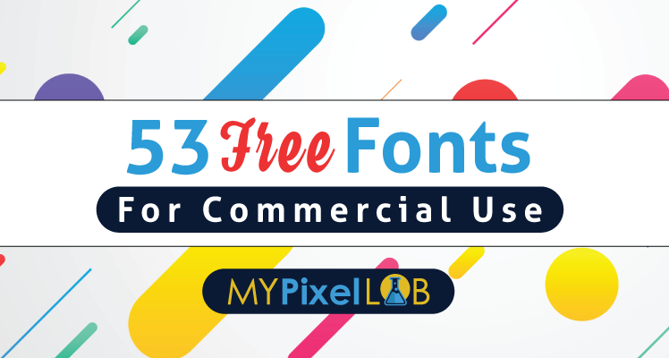 Free Fonts For commercial use Cover image