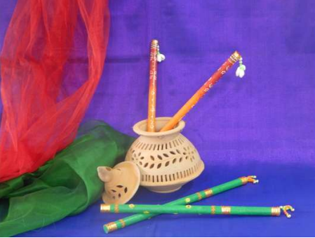 Fevicol Hobby Ideas : DANDIYA DECORATION