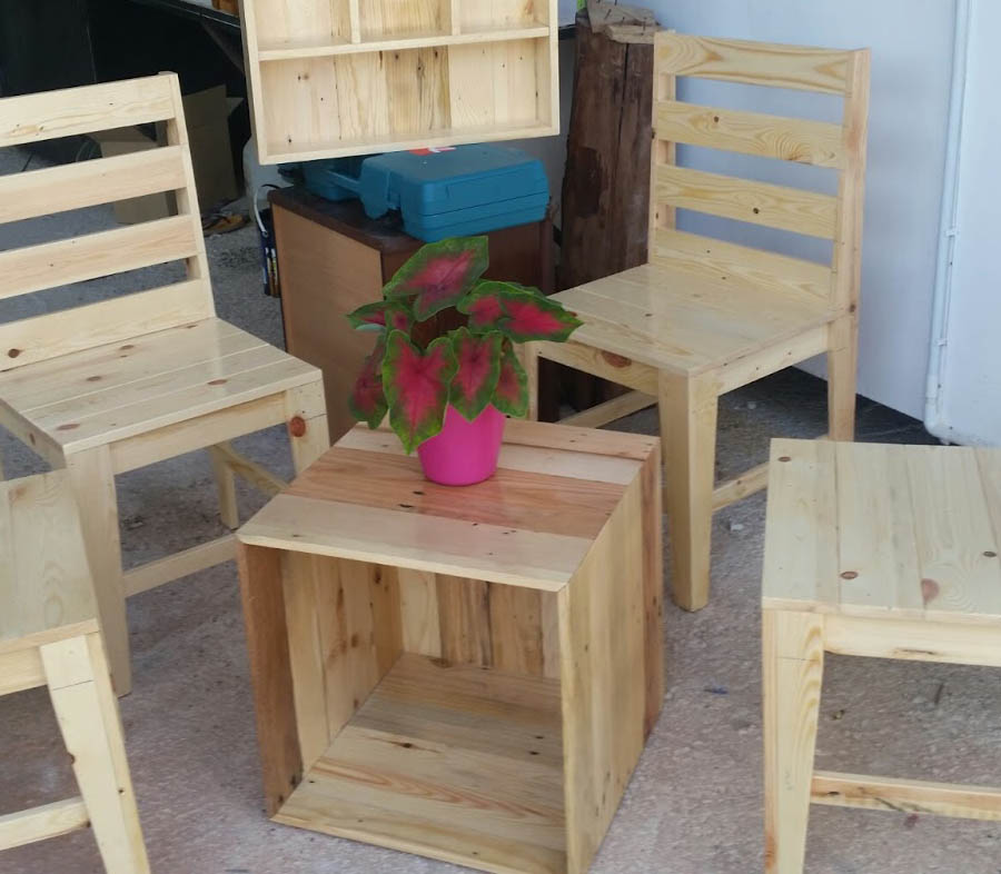Kitchen Set Kayu Jati Belanda: Borneo Furniture (Pallet Jati Belanda Banjarmasin): JATI