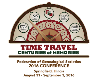 FGS 2016 National Conference, Springfield, IL, August 31 - September 3, 2016 #FGS2016