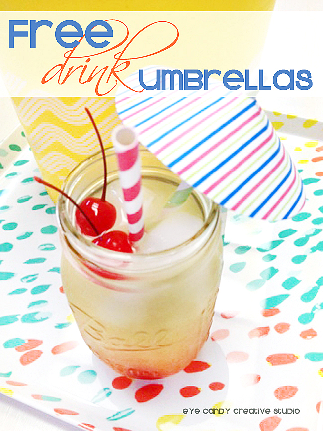 free drink umbrellas, summer sips, summer cocktail on tray, cocktails