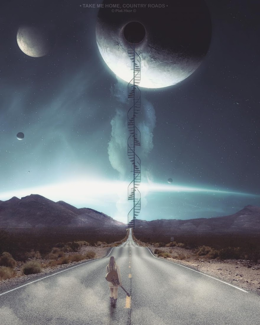 12-Take-me-home-country-roads-Plat-Ykor-Surreal-and-Fantasy-Photo-Manipulations-www-designstack-co