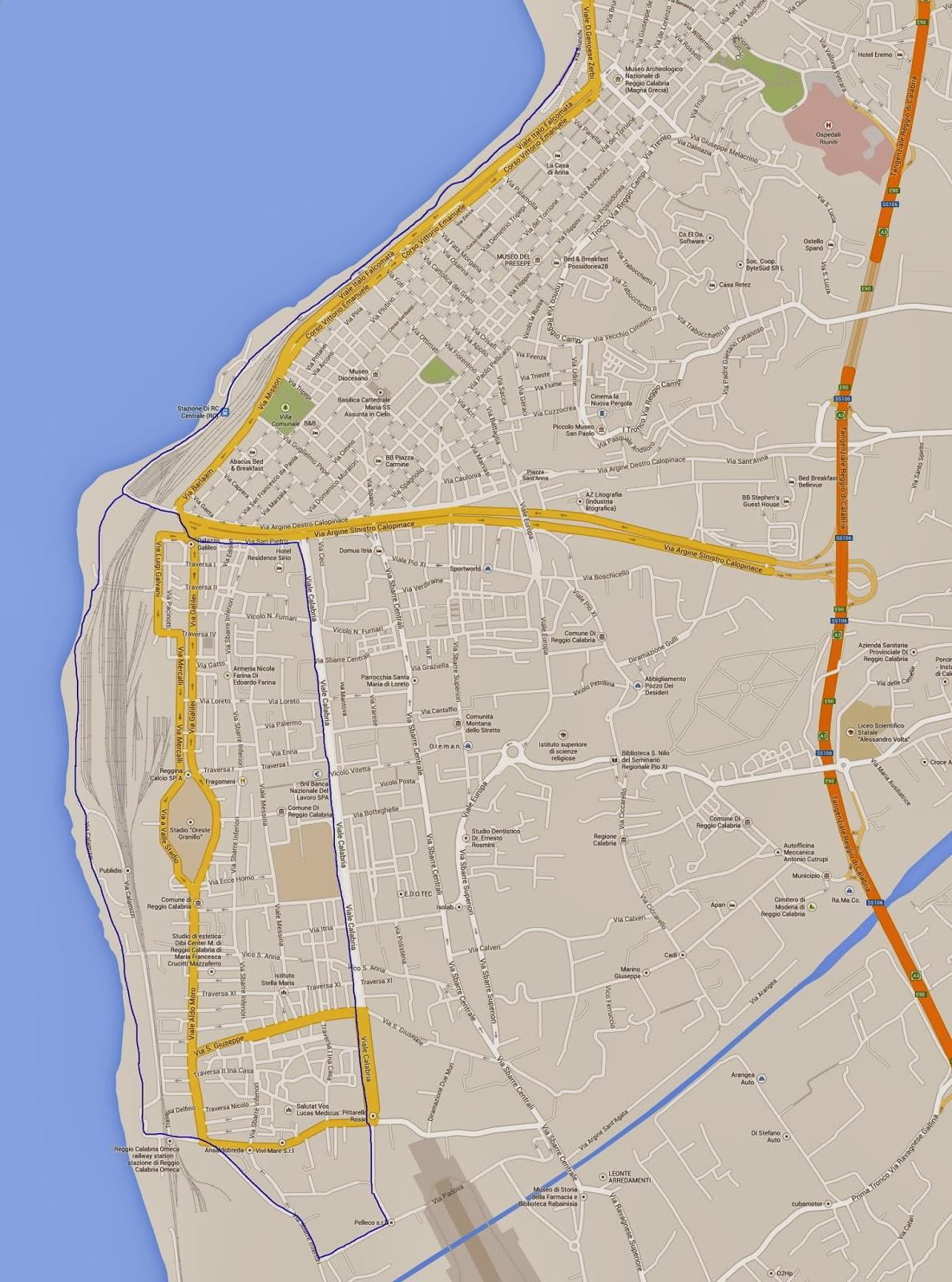 Mappa Piste Ciclabili