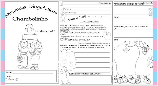 Caderno de Atividades Diagnósticas Chambolinho Fundamental I