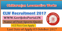 Chittaranjan Locomotive Works Recruitment 2017– 10 Sports Quota