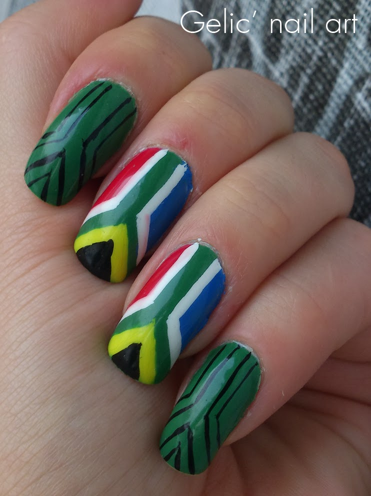 Gelic Nail Art South African Tribal Nail Art