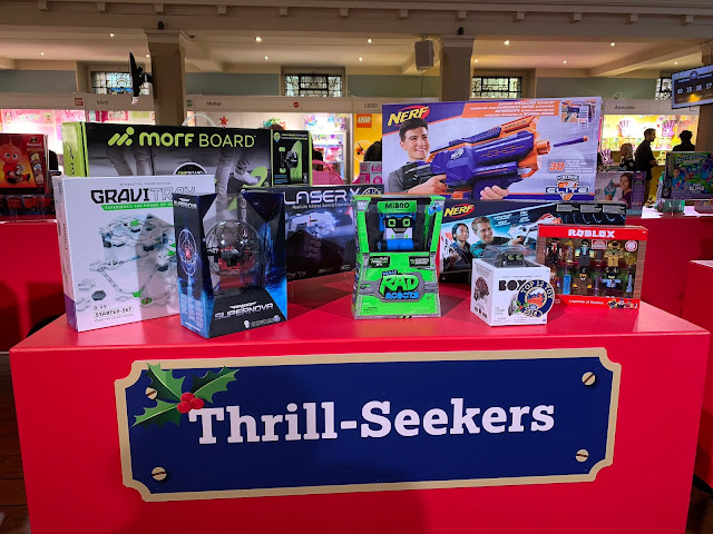 Display of the Thrill Seekers from DreamToys for Christmas 2018