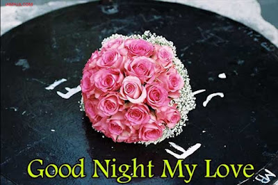 Good Night Images for lover with roses