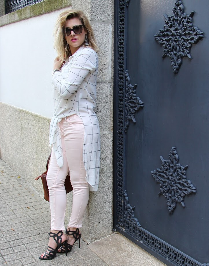 jeans,  Maxi Shirt with Pastel Jeans