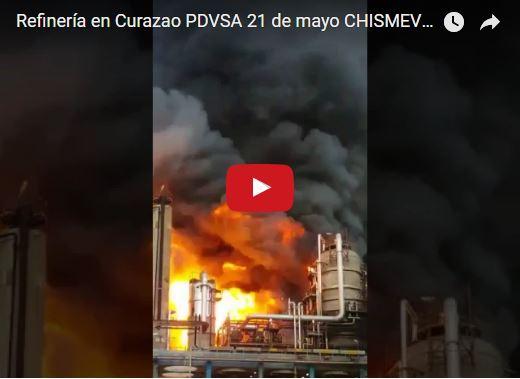 Se quema refinería de PDVSA en Curazao