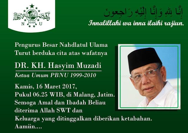 Kyai Hasyim Muzadi akan Dimakamkan di Komplek Al-Hikam Depok