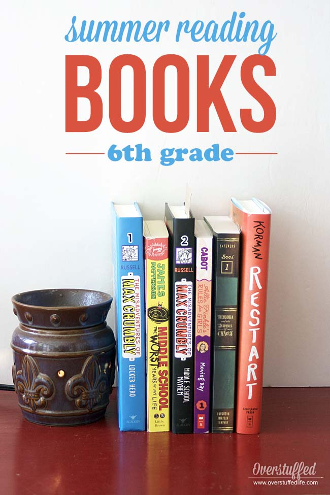 6 FUN BOOKS for your 6th grader's SUMMER READING. If your child likes books like DORK DIARIES, this list is for you.