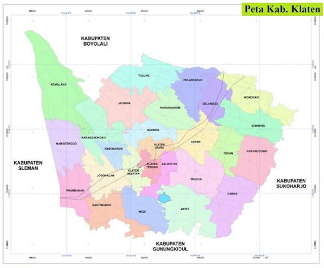 Peta Kabupaten Klaten