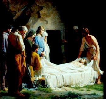 Ilustración de la Sepultura de Jesús a color
