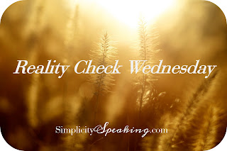 Reality Check Wednesday | Spiritual milk and solid food. And how babies just surprise us!