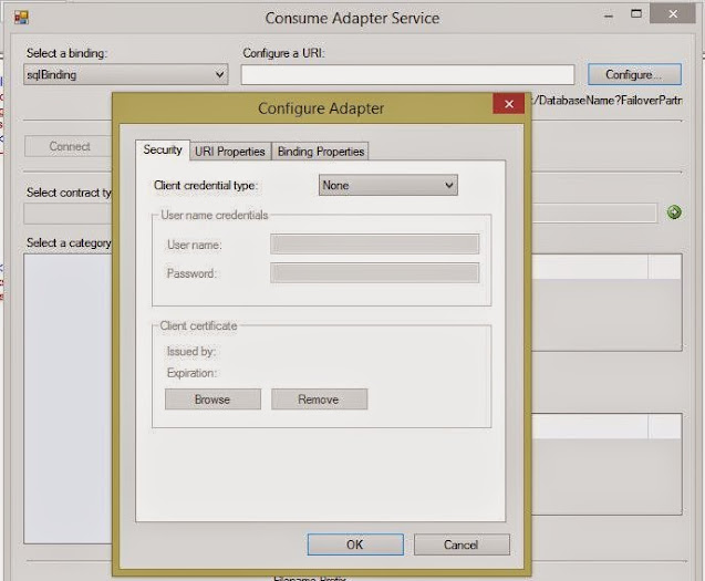 Select sqlBinding config
