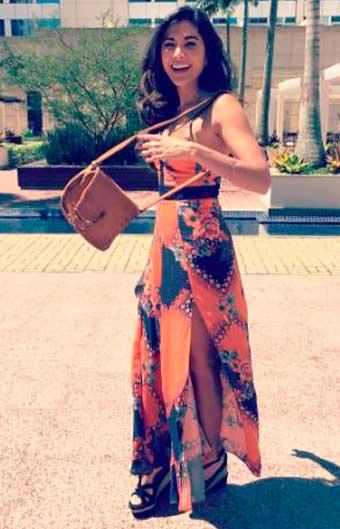 Yumi vestido laranja Sol Nascente