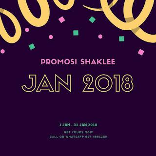 Promosi Shaklee Januari 2018