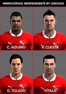 Faces: Claudio Aquino, Gustavo Toledo, Julian Vitale, Victor Cuesta, Pes 2013