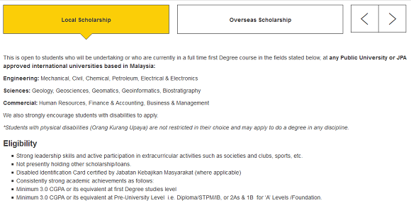 Shell Malaysia Scholarship application criteria. Please refer to the following criteria to apply for this scholarship
