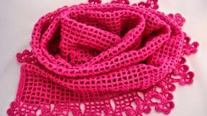 Patrones crochet de pashmina - muy fácil