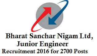 BSNL JE Recruitment 2016
