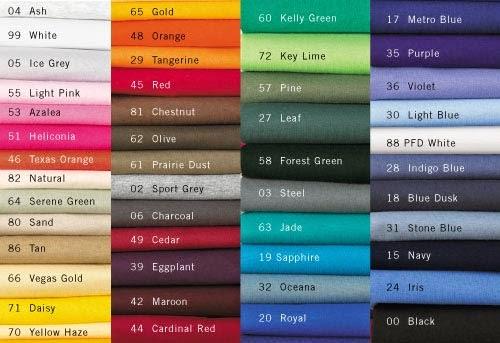 Senarai Colour Baju Gildan