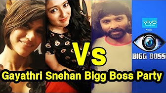 Bigg Boss Snehan & Gayathri Fight At Bigg Boss Final Party Night | Leaked Video Revealed From Set