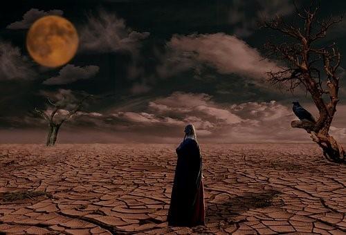 Wüste, Trocken, Natur, Abend, Landschaft