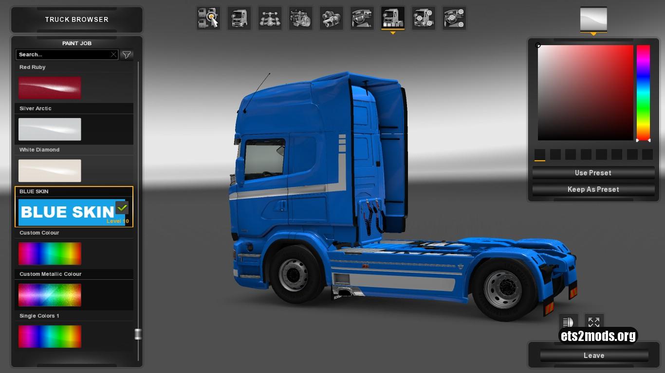 Scania RJL Blue Skin by SylweK