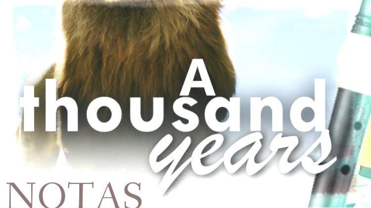 A thousand years - Christina Perri - Notas melódicas
