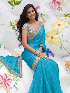 Pure-indian-chiffon-sarees-with-blouse-for-summer-for-girls-2