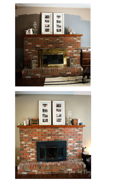 Fireplace Mini-Makeover   Brass + A Can of Paint  