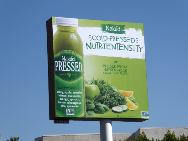 Naked Pressed Juice Nutrientensity billboard