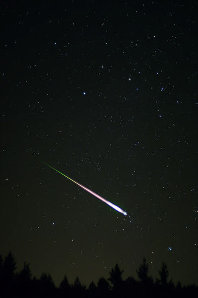 meteoro da chuva leonidas