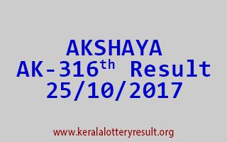 AKSHAYA Lottery AK 316 Results 25-10-2017
