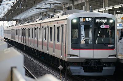 和光市駅停車中の東急5000系