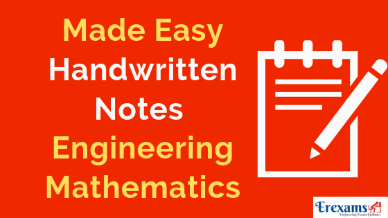 Made Easy Handwritten Notes Engineering Mathematics for GATE, IES, PSUs with Pdf Free Download