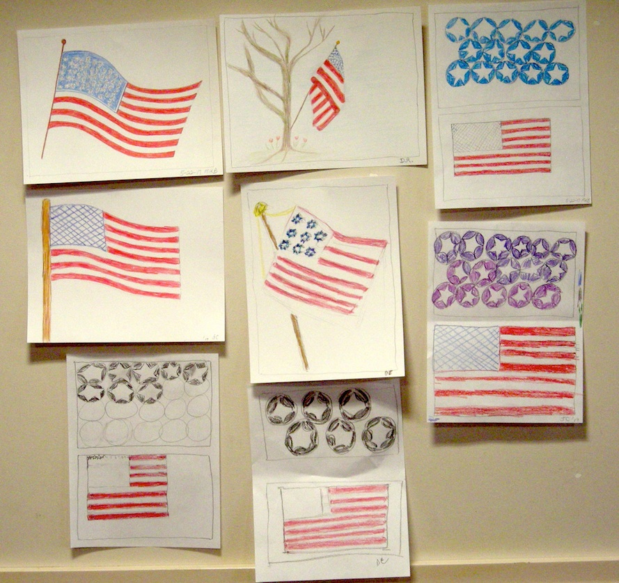 Cknotes 4 Drawing American Flag Students Art Displays Kids And