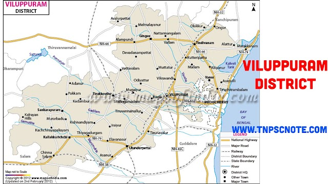 Viluppuram District Information, Boundaries and History from Shankar IAS Academy