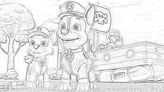 Coloring Pages Coloring Pages Paw Patrol Free And Downloadable