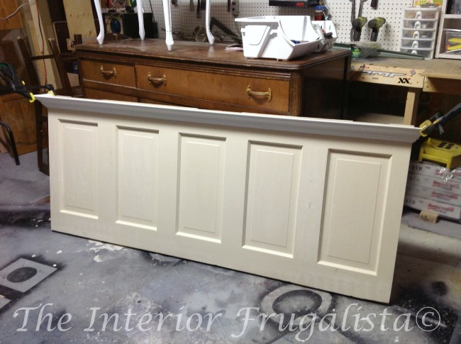 Attaching Crown Molding To Old Door Headboard