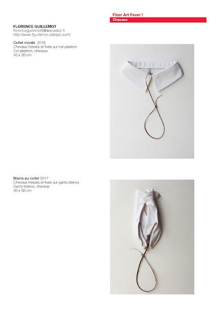 art avec cheveux, art textile contemporain