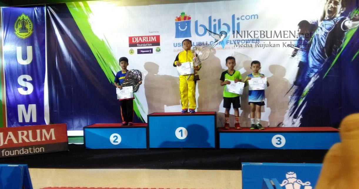 Restu, Atlet Junior Bulu Tangkis Kebumen Raih Juara I Liga Master Jateng-DIY