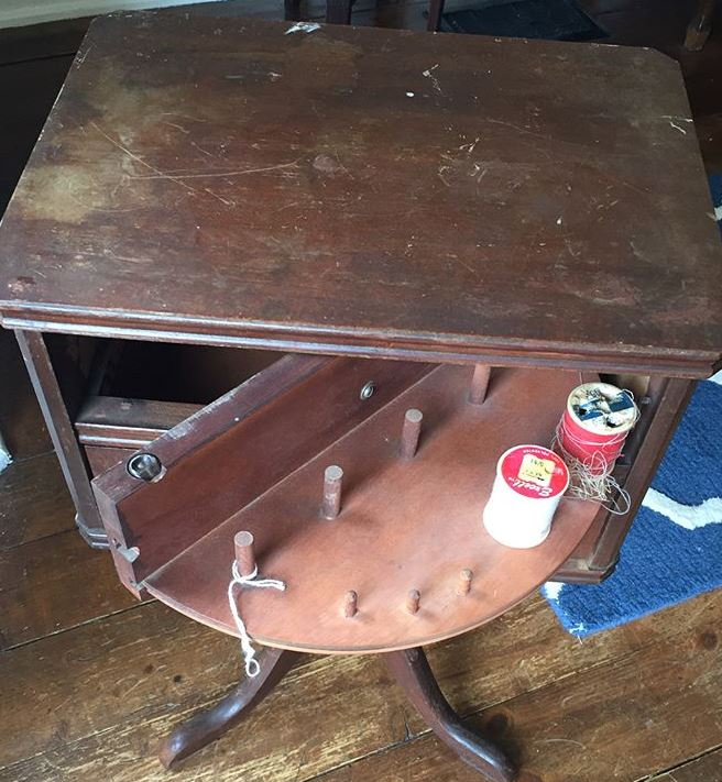 antique thread cabinet - Marion's Mittens Blog: Finding And Cleaning Up An Antique Sewing Cabinet